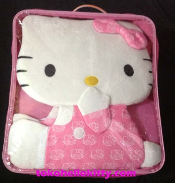 sarung jok mobil hello kitty pink