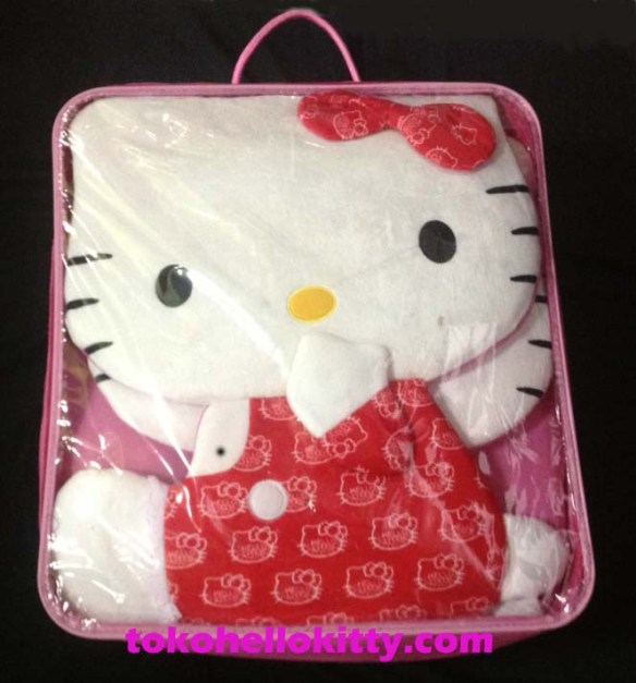 sarung jok mobil hello kitty red